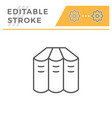 books set editable stroke line icon vector image vector image