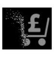 bright dissolving pixel halftone pound checkout vector image vector image
