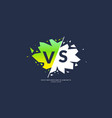 bright poster symbols of confrontation vs can be vector image vector image