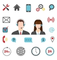 Call center icons set vector image