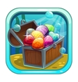Cartoon app icon with treasure chest vector image