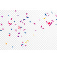 celebration banner with colorful confetti vector image