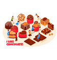 chocolate products vector image