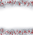 Christmas Banner with Silver Fir Twigs vector image