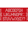 Christmas Font Scandinavian style knitted letters vector image vector image