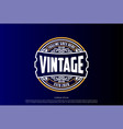 circular old classic elegant retro vintage badge vector image vector image