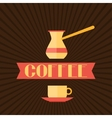 Coffee menu for restaurant cafe bar and vector image