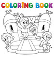 coloring book kids play theme 5 vector image