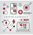 crypto-currency vector image