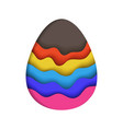 decorative easter egg with depth shadow vector image vector image
