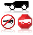 drinking and driving vector image