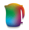 electric kettle sign colorful icon with vector image vector image