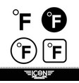 fahrenheit symbol icon vector image