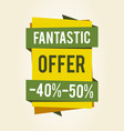 fantastic offer sale clearance vector image