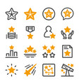 five star icon set vector image