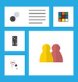 flat icon entertainment set of chequer cube vector image vector image