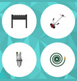 flat icon farm set of hosepipe pump grass-cutter vector image vector image