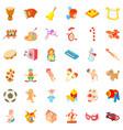 Game icons set cartoon style