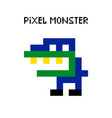 game retro pixel dinosaur monster vector image