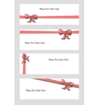 Hand Drown Bow Banners vector image vector image