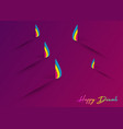 happy diwali celebration in paper cut design vector image vector image