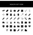 healt icon set glyph style set vector image