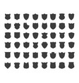 heraldic shield silhouettes vector image