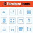 home furniture icon set vector image vector image
