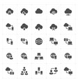 icon set - network and connectivity solid icon vector image vector image