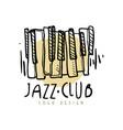 jazz club logo design vintage music label vector image vector image