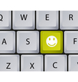 Keyboard Smiley button vector image vector image