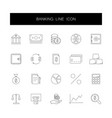line icons set banking pack vector image vector image