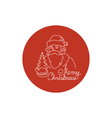 Linear Icon of a Santa Claus vector image vector image