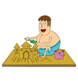 making sand castle vector image