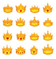 medieval royal crown queen monarch king lord flat vector image