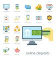 money finanse banking safety icons business vector image vector image