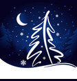moon and stars christmas background vector image