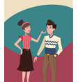 mother and father vintage background vector image