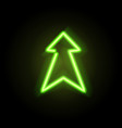 neon glowing arrow pointer vector image vector image