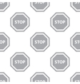 New Stop seamless pattern vector image vector image