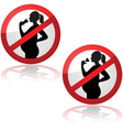 No drinks for pregnant women vector image vector image