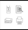 office simple linear icon setsimple outline icons vector image vector image