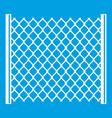 perforated gate icon white vector image vector image