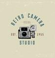 photo logo emblem or label video film movie vector image vector image