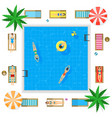 pool with blue water summer vacation concept vector image vector image