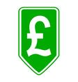 Pound symbol button vector image
