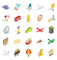 power icons set isometric style vector image