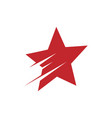 red shooting star logo design vector image vector image