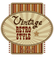 Retro label vector | Price: 1 Credit (USD $1)