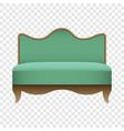 royal green sofa mockup realistic style vector image vector image